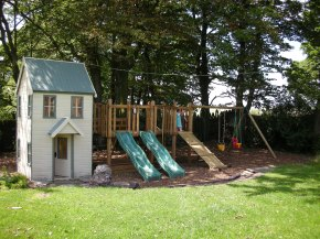 The childrens' play area at Butterton Moor House in the Peak District