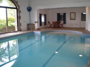 The beautiful indoor swimming pool at Butterton Moor House Holiday Cottages in the Peak District National Park